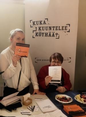 Emmi Vuorela Korttelikaveritja Tuula Paasivirta Sosiaalifoorumi 2018