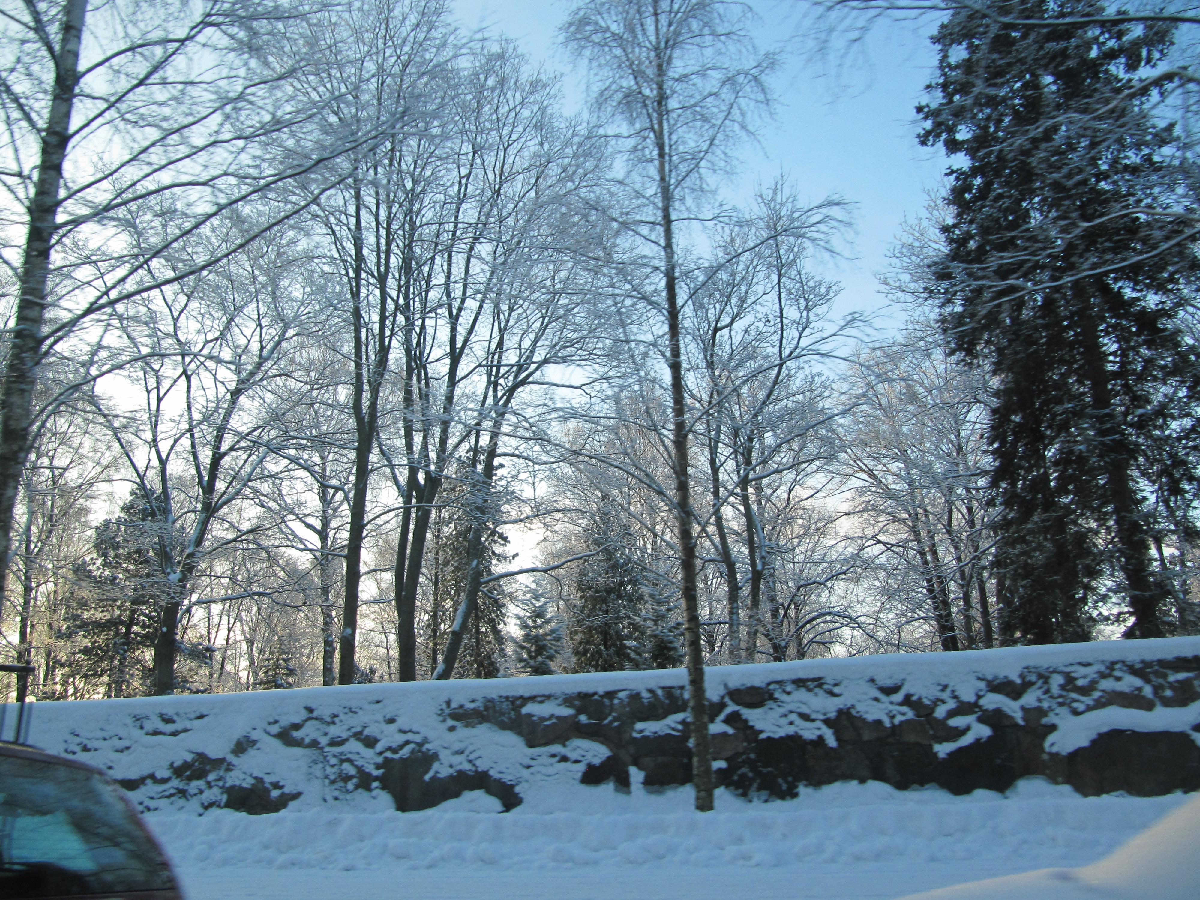 Helsingin keskusta talvella